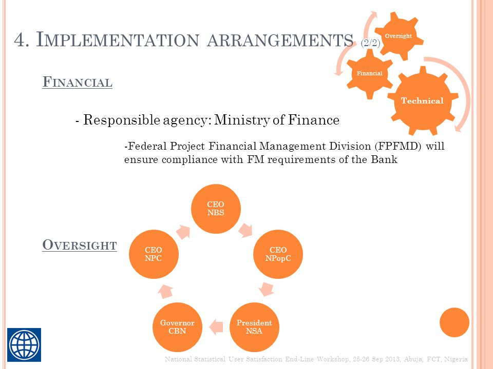 4. Implementation arrangements (2/2)