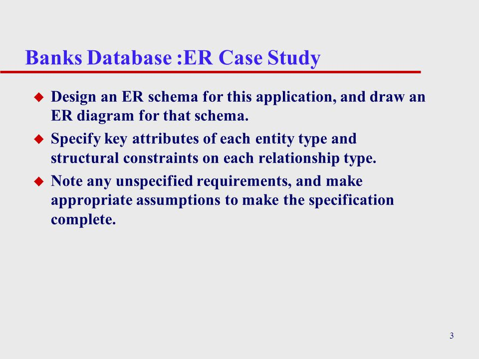 database case study