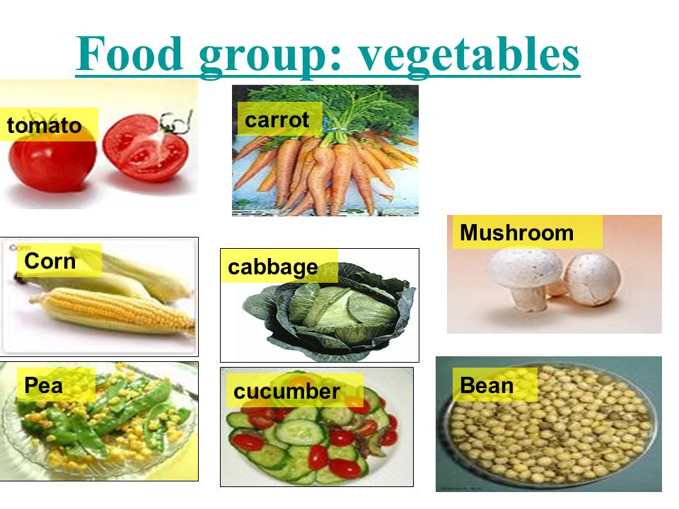Food group: vegetables