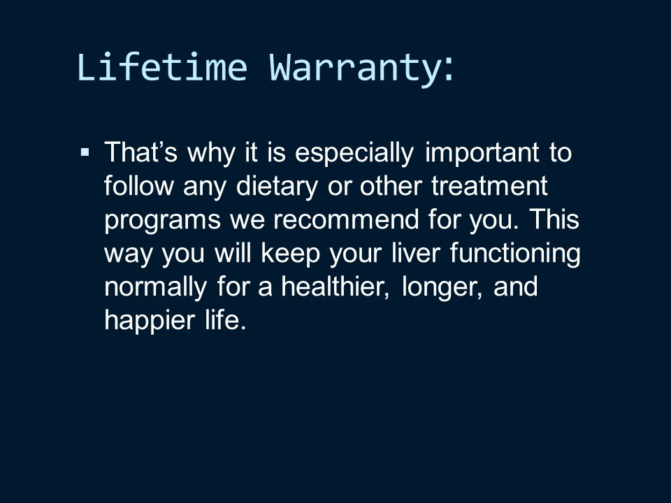 :Lifetime Warranty