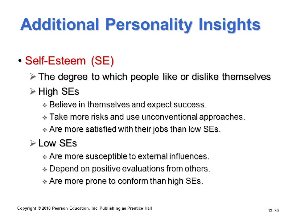 Additional Personality Insights