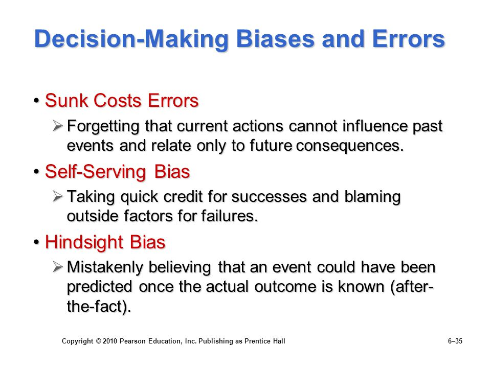 Decision-Making Biases and Errors