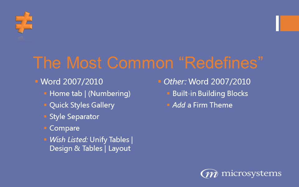 The Most Common Redefines