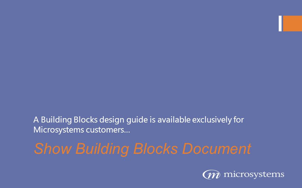 Show Building Blocks Document