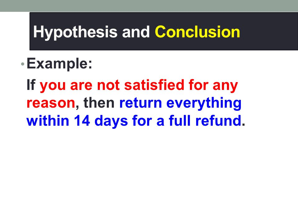 Hypothesis and Conclusion