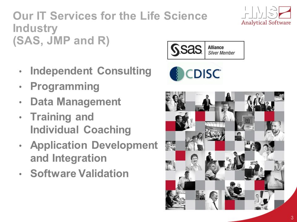 Our IT Services for the Life Science Industry (SAS, JMP and R)