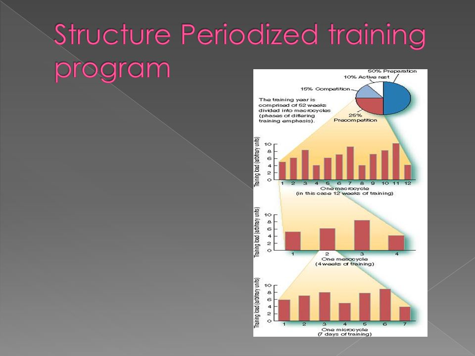 Structure Periodized training program