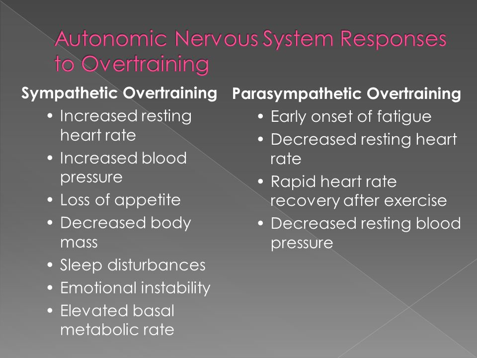 Autonomic Nervous System Responses to Overtraining