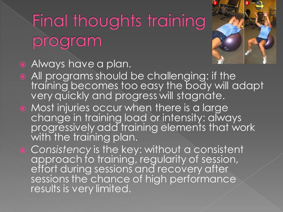 Final thoughts training program