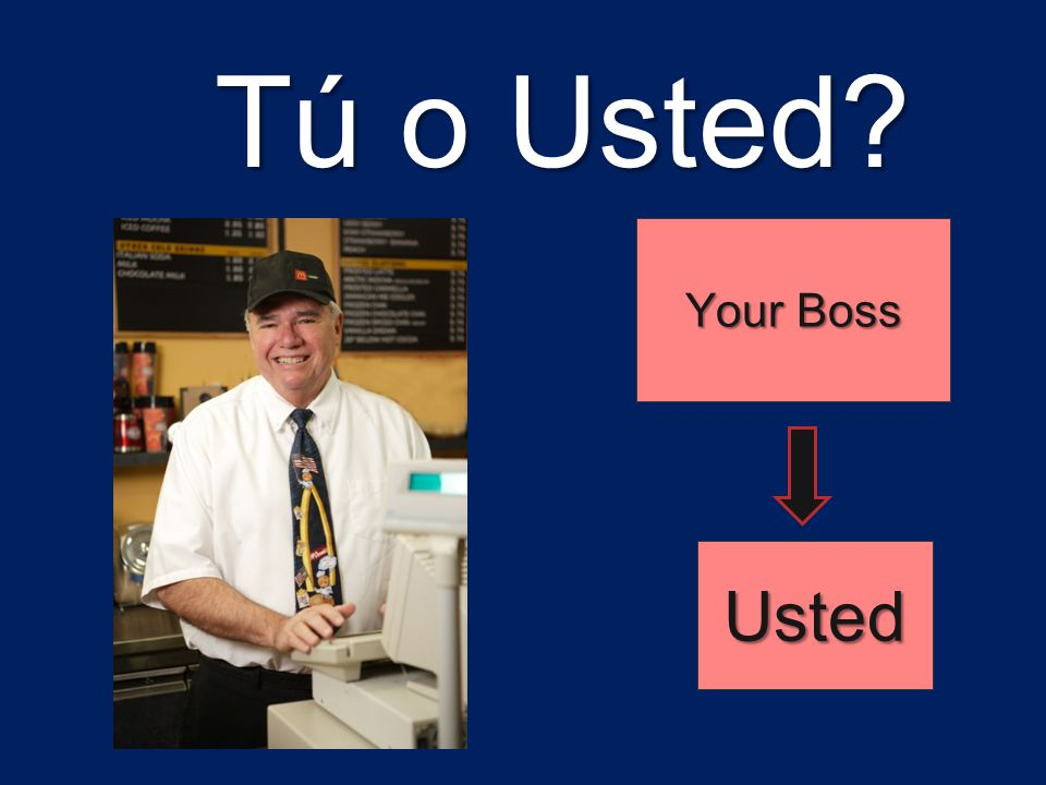 Tú o Usted Your Boss Usted