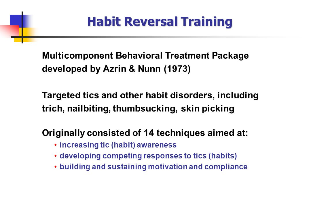 Habit Reversal Training