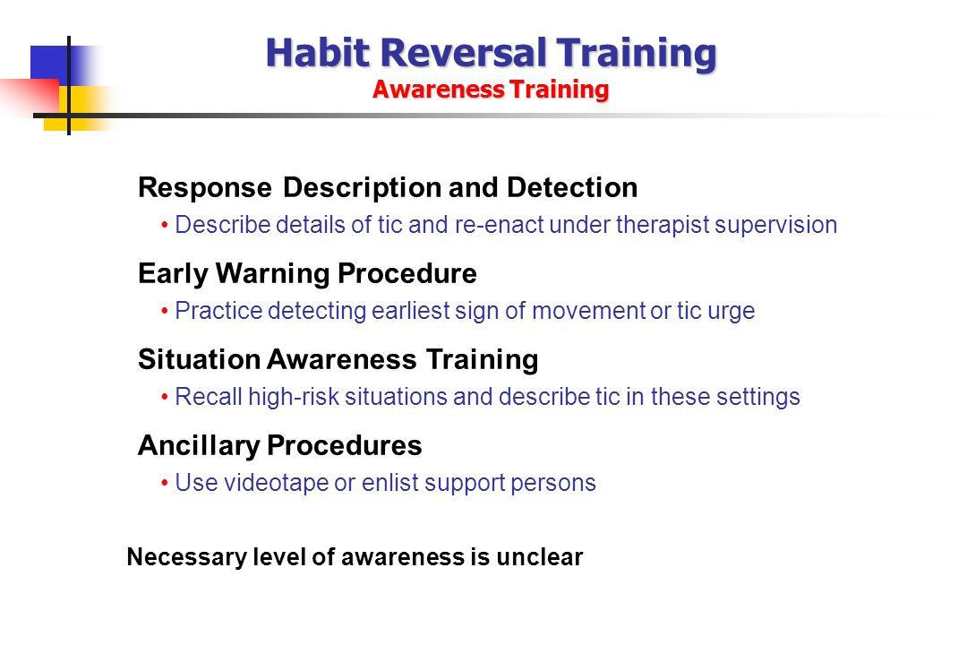 Habit Reversal Training Awareness Training