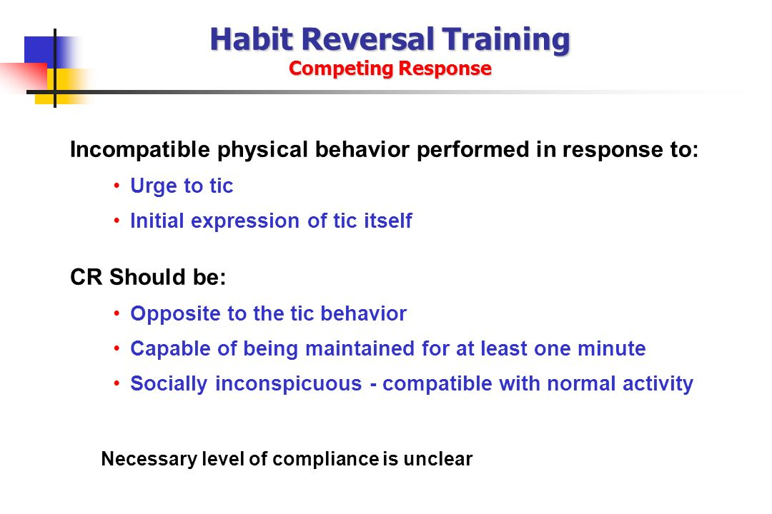 Habit Reversal Training Competing Response