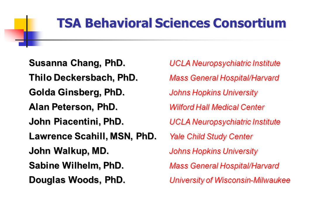 TSA Behavioral Sciences Consortium