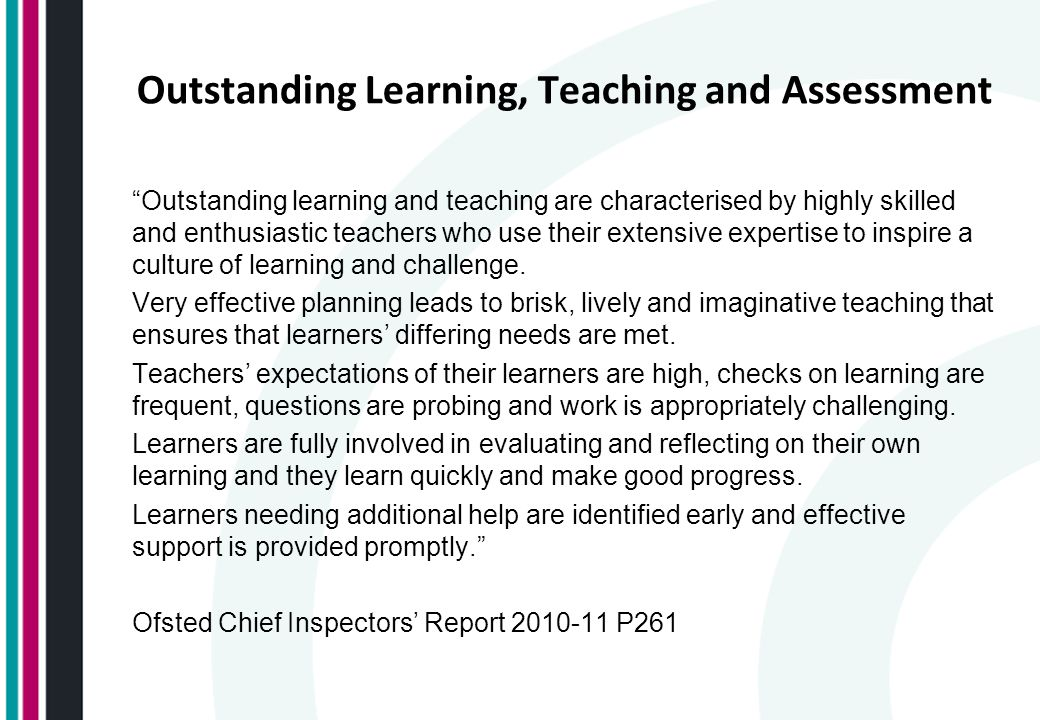 Outstanding Learning, Teaching and Assessment