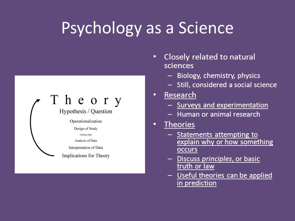 why is psychology considered a science