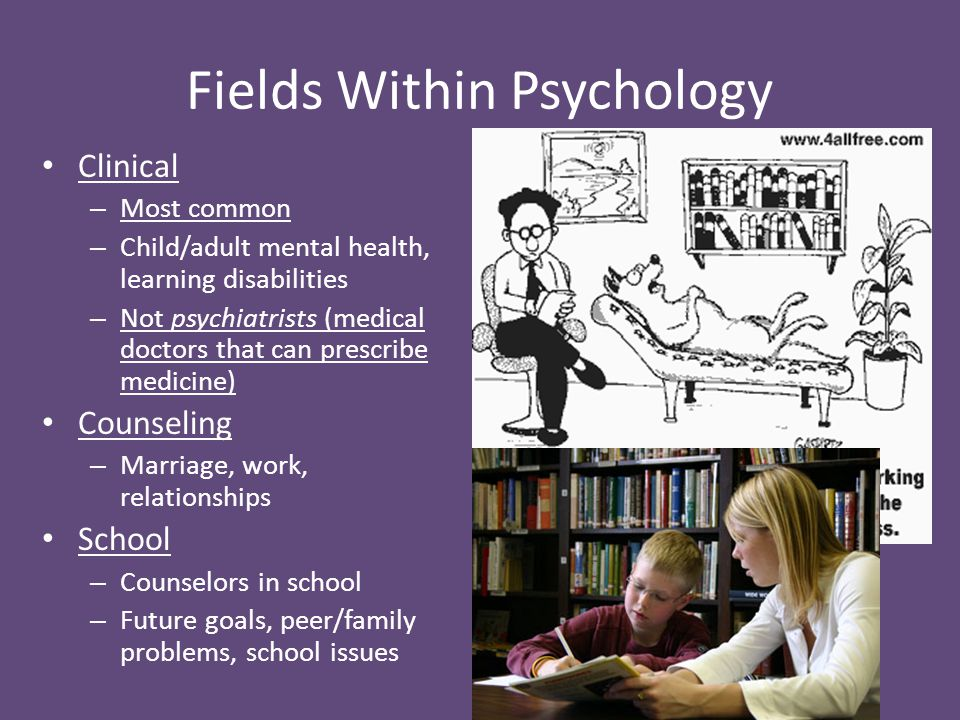 Fields Within Psychology