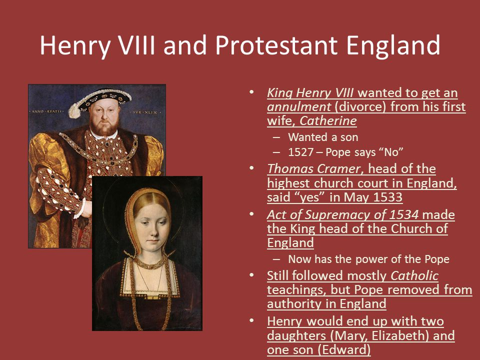 Henry VIII and Protestant England