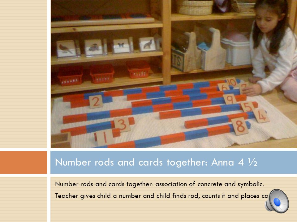 Number rods and cards together: Anna 4 ½