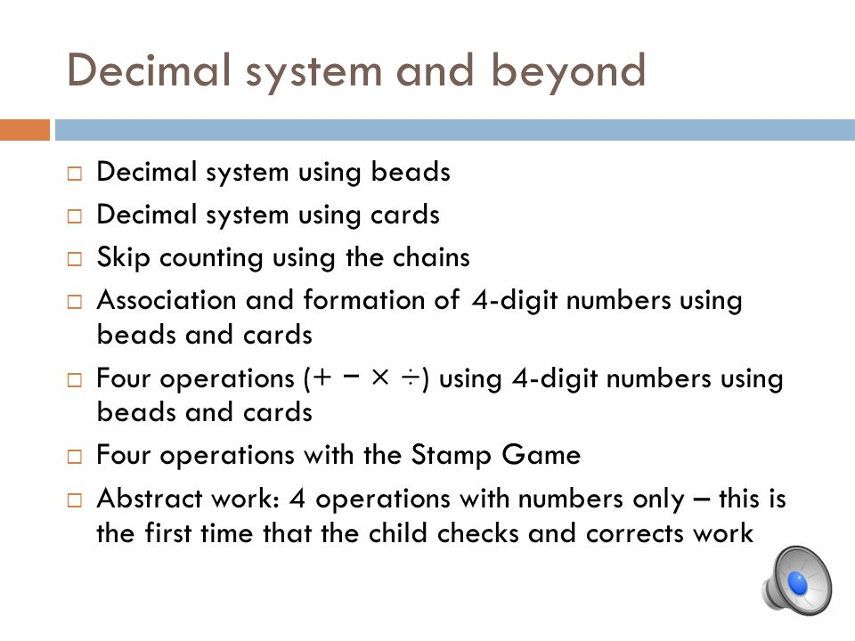 Decimal system and beyond