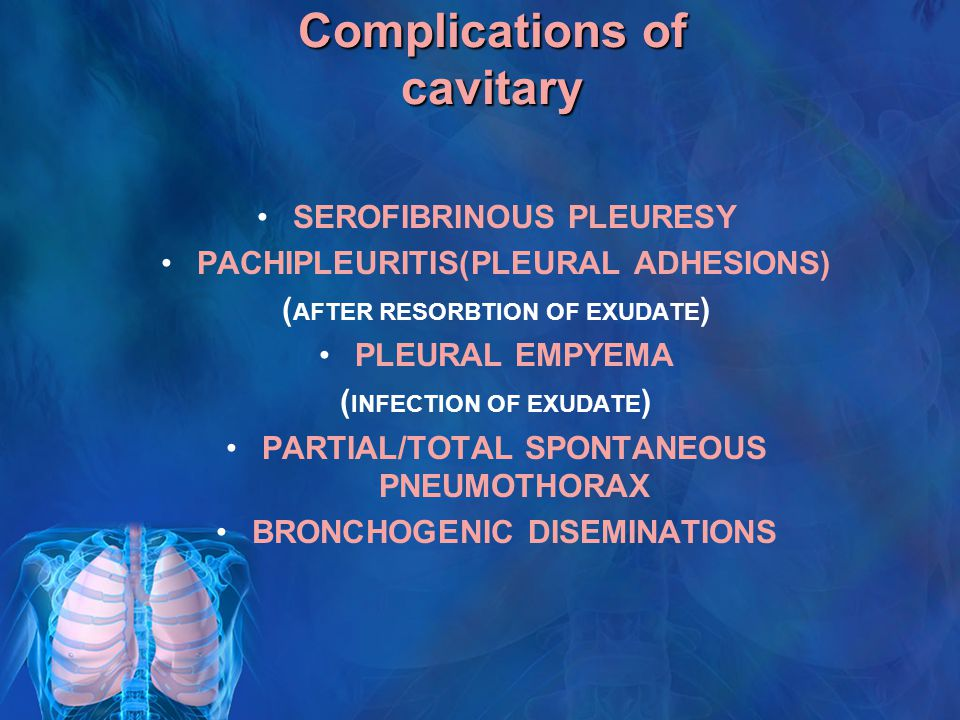Complications of cavitary