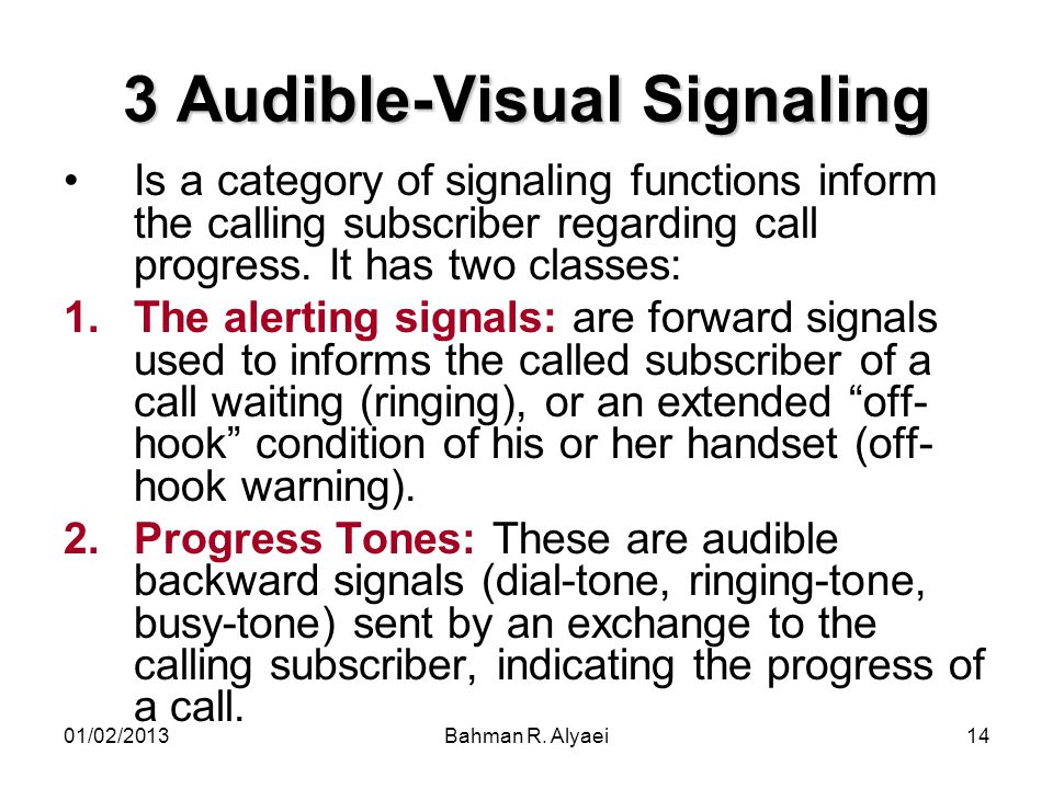 3 Audible-Visual Signaling