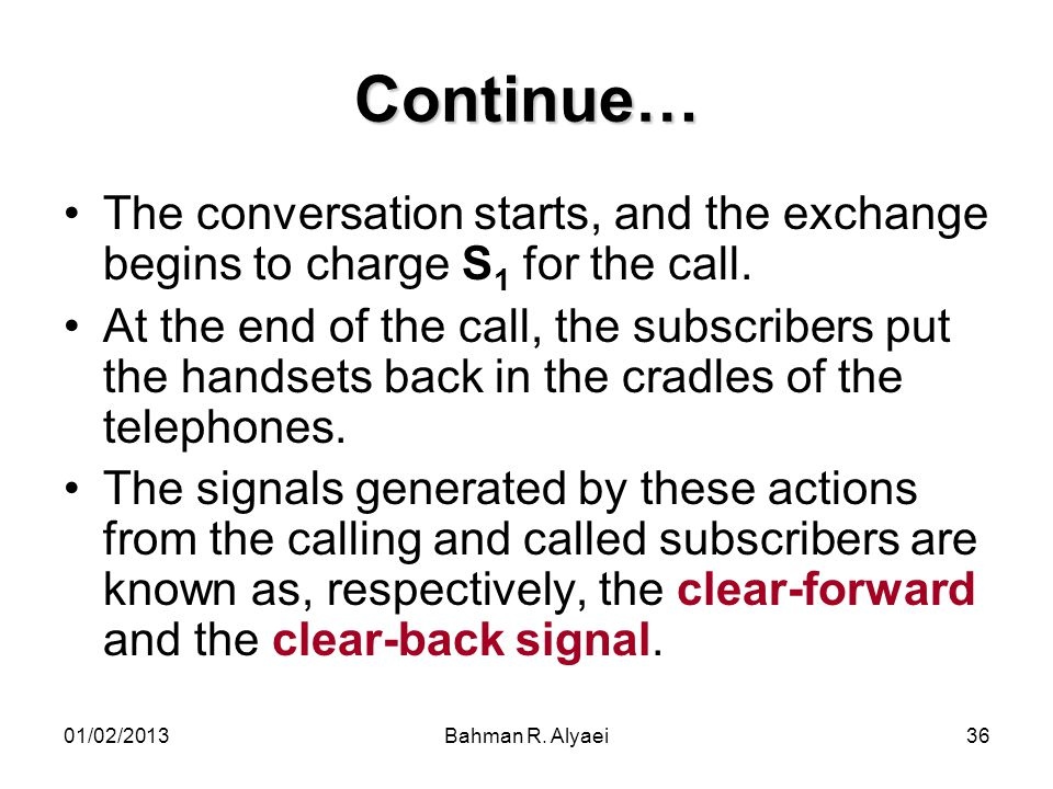 Continue… The conversation starts, and the exchange begins to charge S1 for the call.