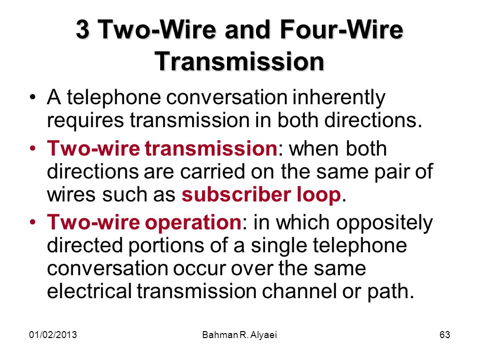 3 Two-Wire and Four-Wire Transmission