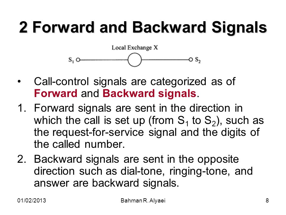 2 Forward and Backward Signals
