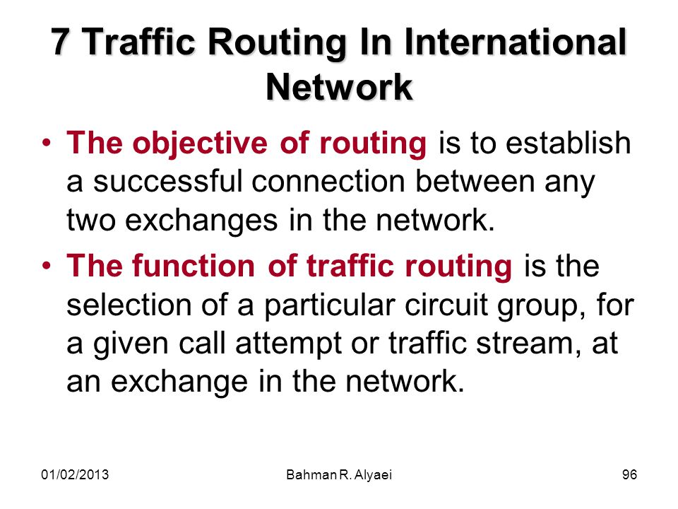 7 Traffic Routing In International Network