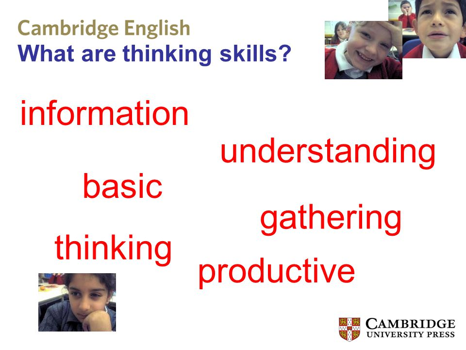 What are thinking skills