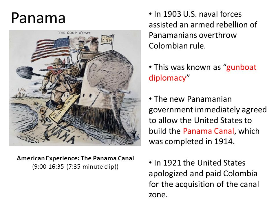American Experience: The Panama Canal (9:00-16:35 (7:35 minute clip))
