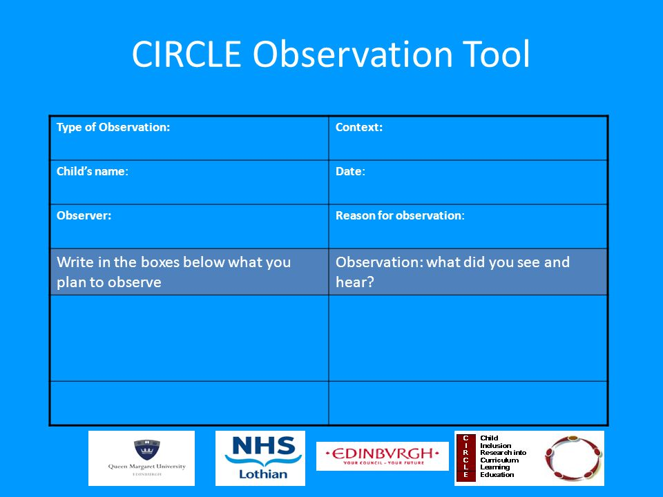 CIRCLE Observation Tool