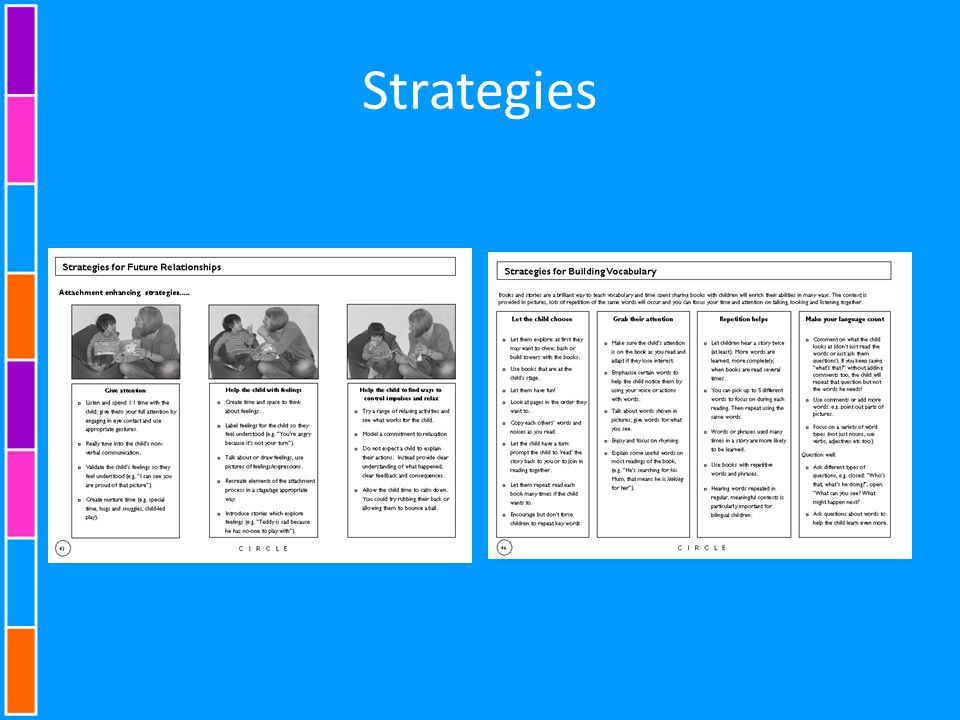 Strategies Presenter B This screen shot is pages 41-43 in blue book