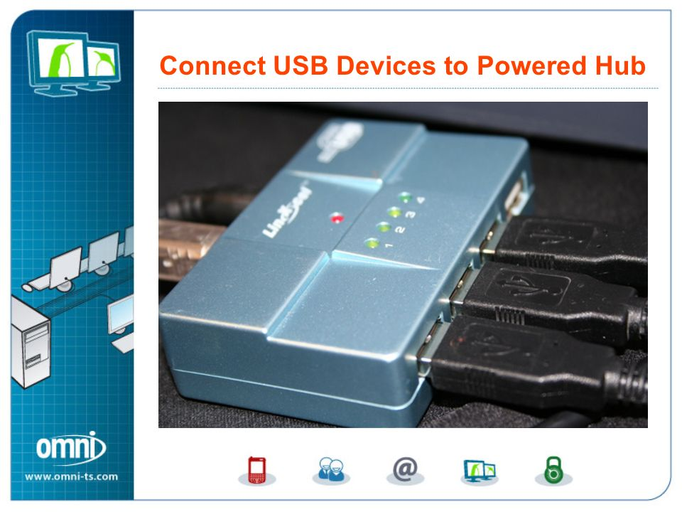 Connect USB Devices to Powered USB Hub