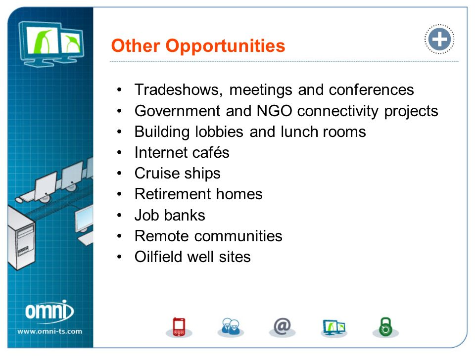 Other Opportunities Tradeshows, meetings and conferences