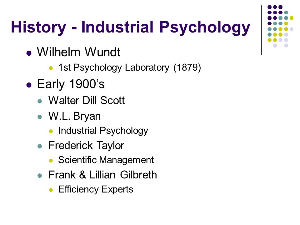 History - Industrial Psychology