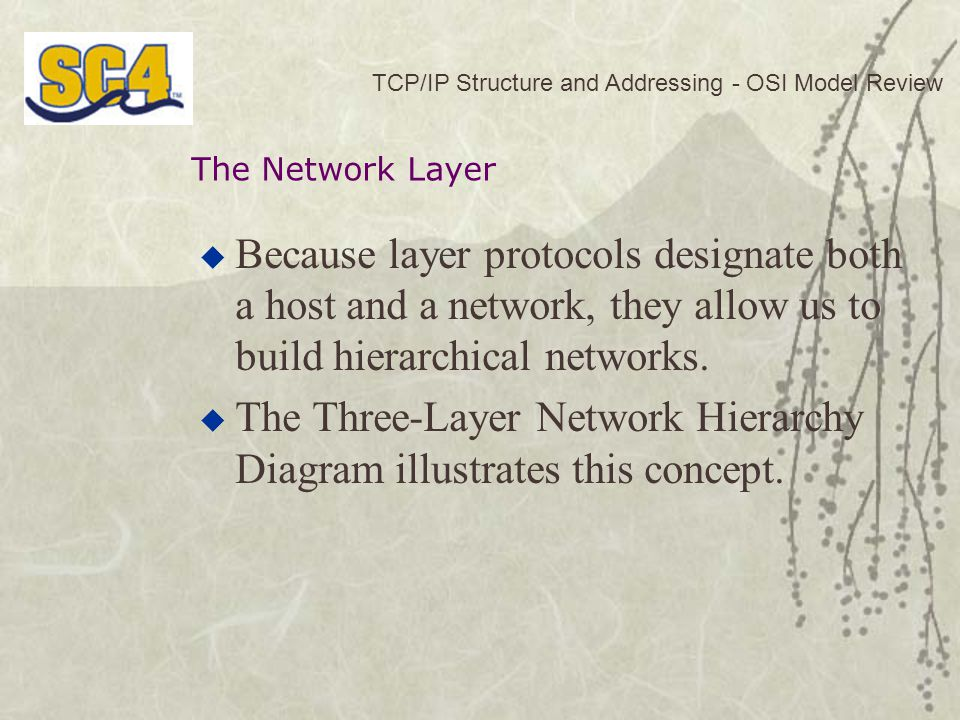 The Three-Layer Network Hierarchy Diagram illustrates this concept.