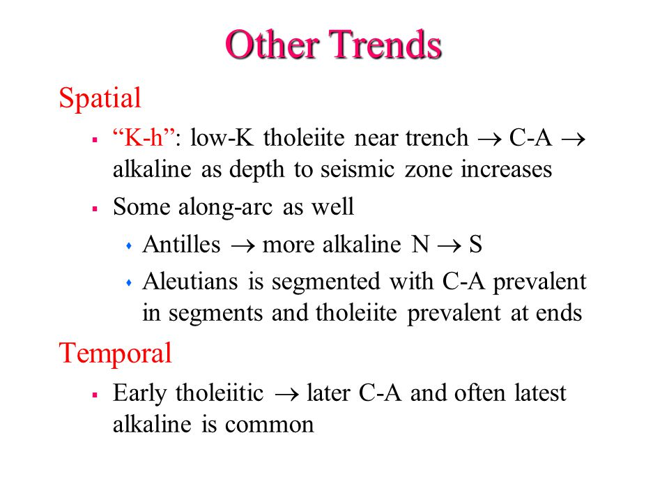 Other Trends Spatial Temporal