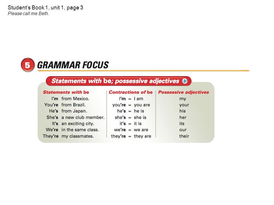 Interchange Book 1 Units 1-16 Unit 1 Unit 2 Unit 3 Unit 4