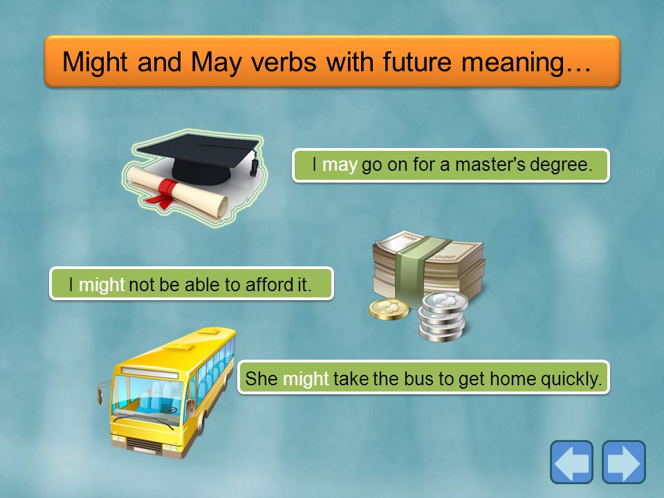 Might and May verbs with future meaning…