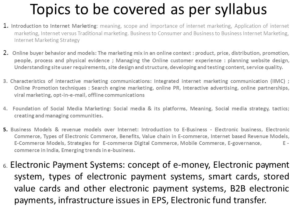 Internet Marketing Chapter 6 Electronic Payment Systems Ppt Download