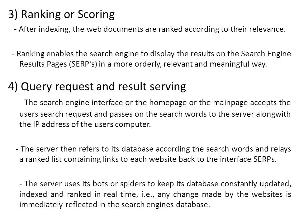 4) Query request and result serving