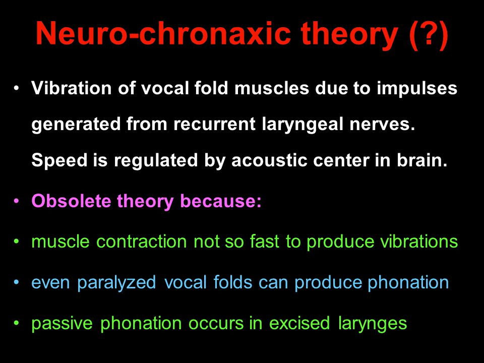 Neuro-chronaxic theory ( )