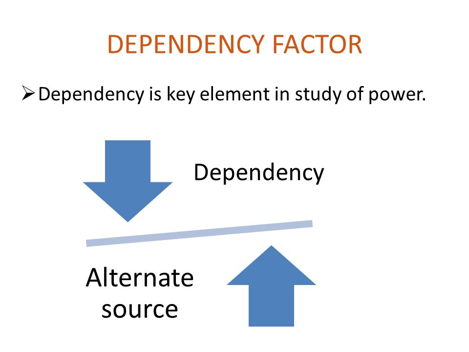 DEPENDENCY FACTOR Alternate source Dependency