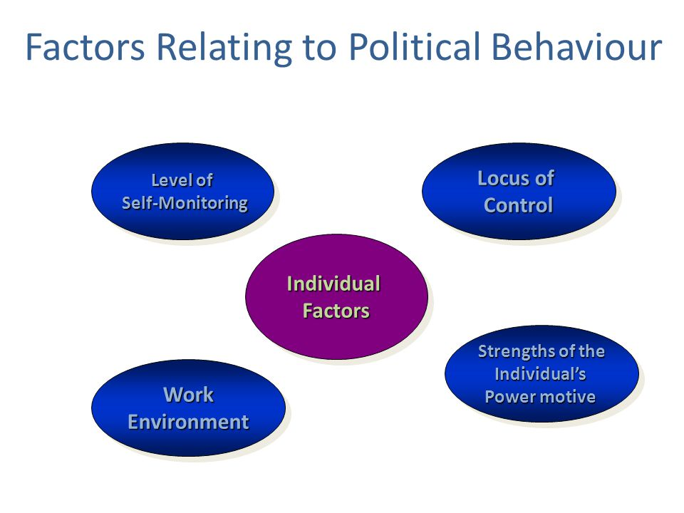 Factors Relating to Political Behaviour