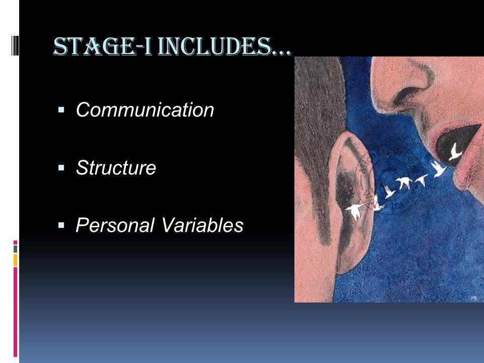 Stage-I Includes… Communication Structure Personal Variables