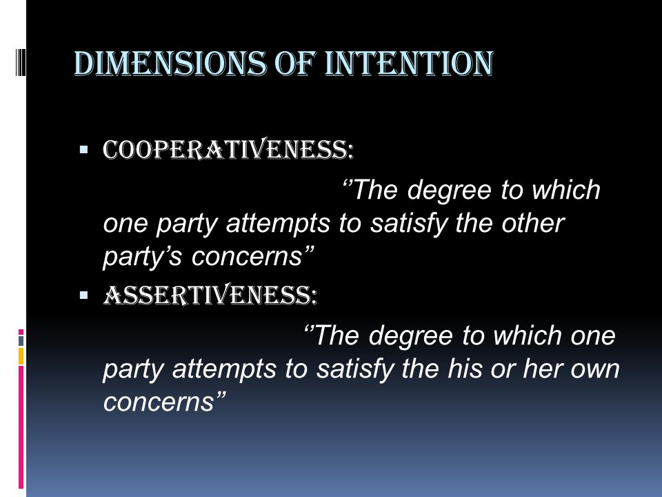 Dimensions of Intention
