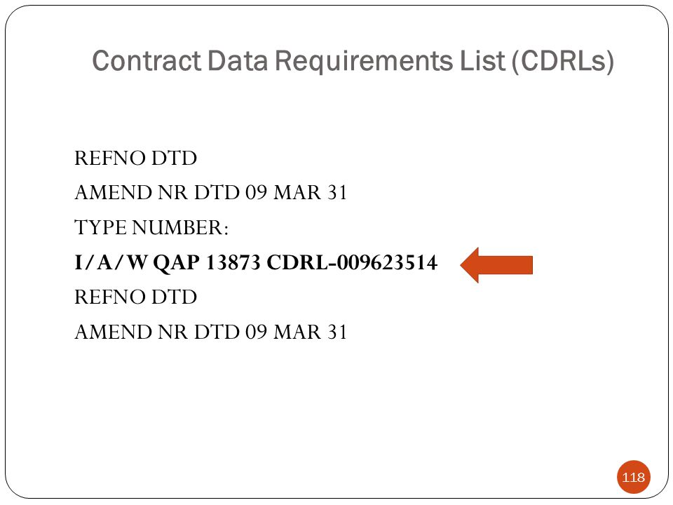 Contract Data Requirements List (CDRLs)