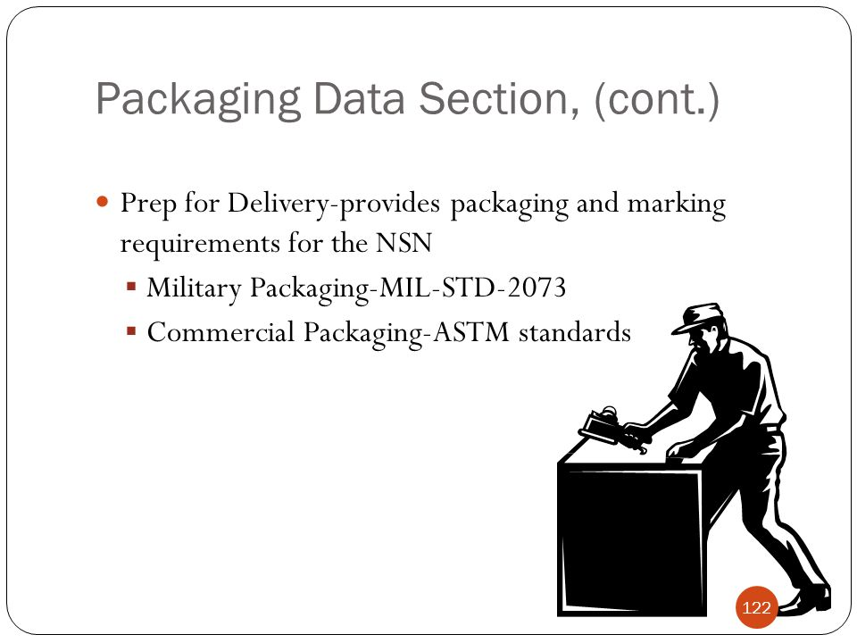 Packaging Data Section, (cont.)